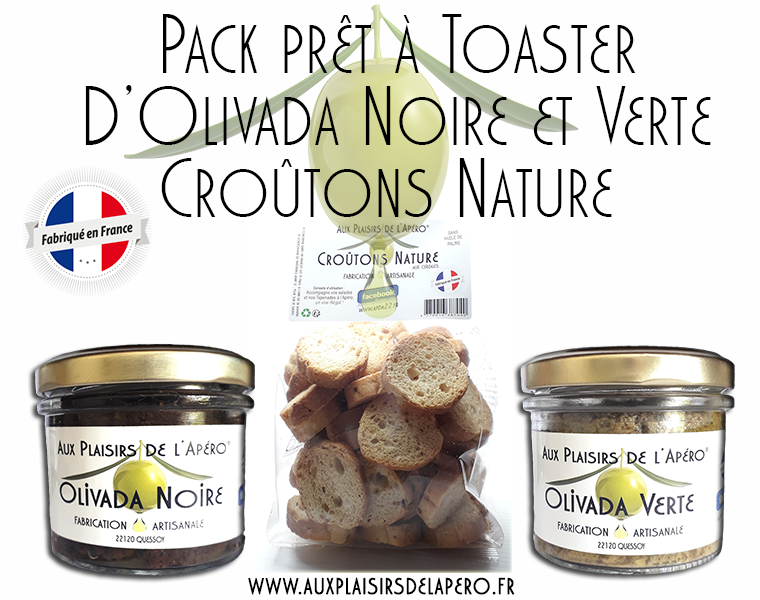 Pack pret a toaster d olivada