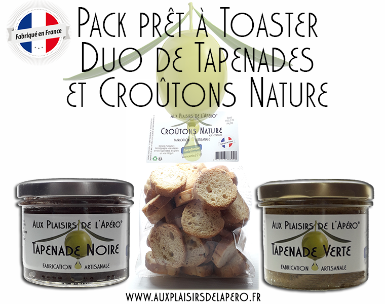 Pack pret a toaster duo tapenades